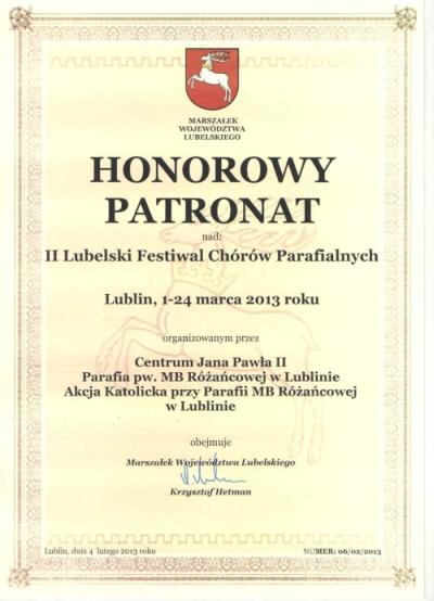Patronat Honorowy Urzędu Marszałkowskiego mały